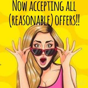 Accepting the most reasonable offers on all items!